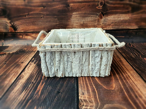 rustic style square posing pot RTS
