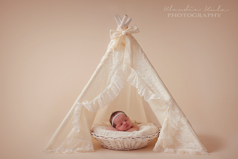 teepee with lace mini
