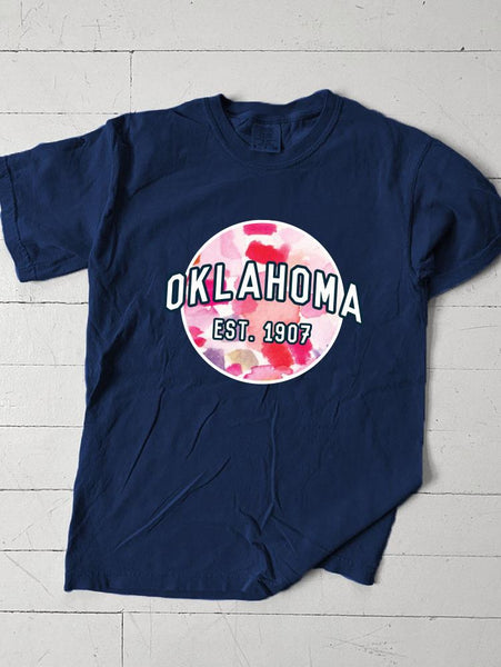 OKLAHOMA: Navy & Watercolor