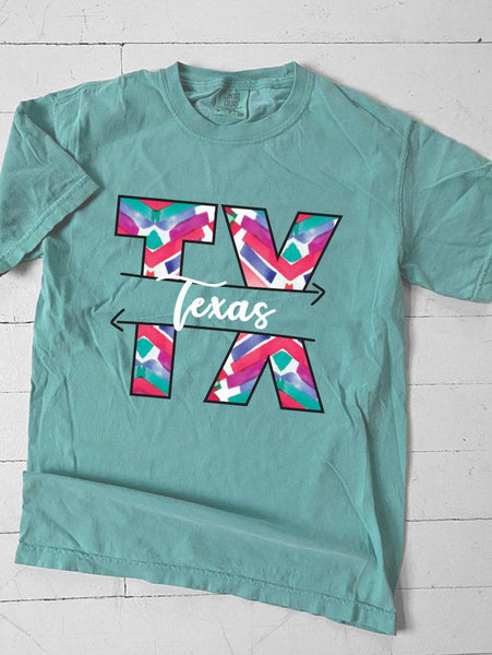 TEXAS: Abstract Chevron Pattern