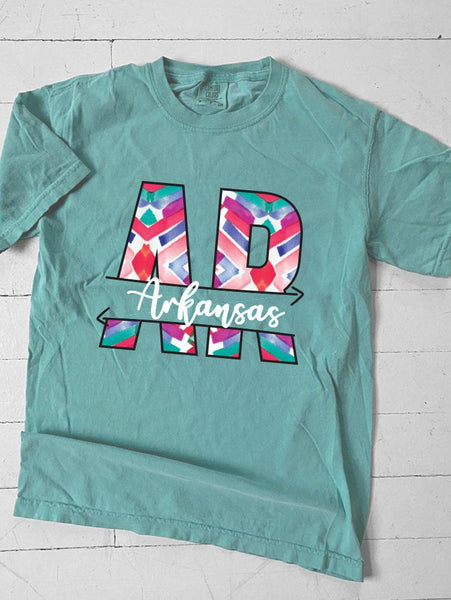 ARKANSAS: Abstract Chevron Pattern