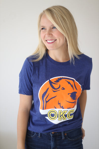 OKC SPIRIT: OKC Unisex Buffalo Circle - Crew Neck
