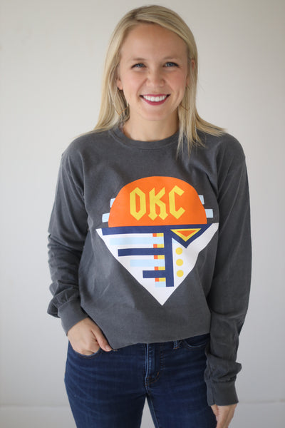 OKC SPIRIT: Modern Abstract - Comfort Longsleeve
