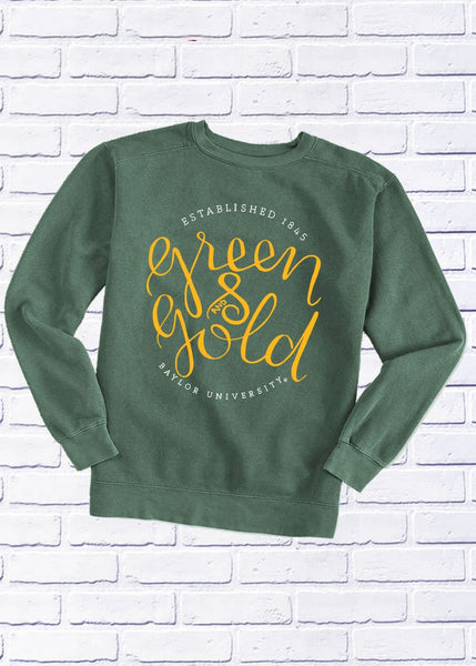 BAYLOR UNIVERSITY 2018: Green & Gold - Cotton Sweatshirt