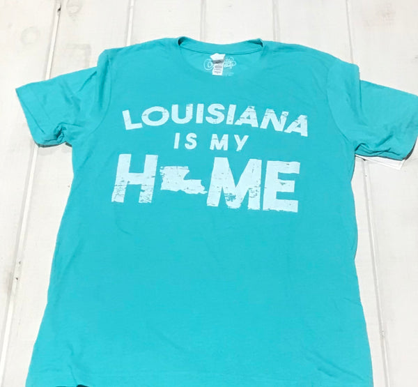 Louisiana Is My Home Teal