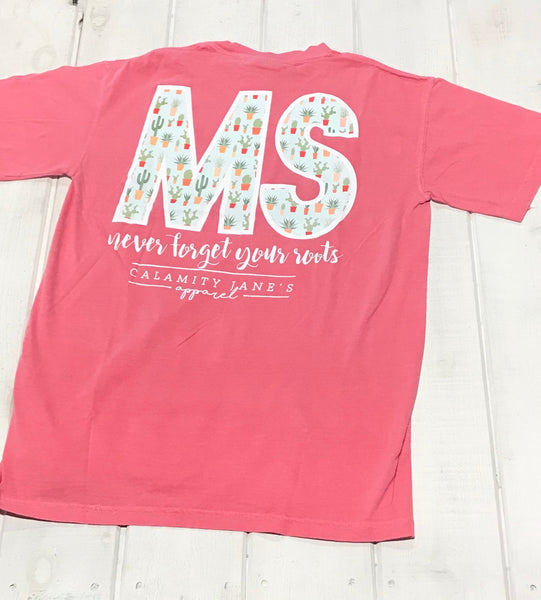 "Mississippi Never Forget Cactus ""MS"""