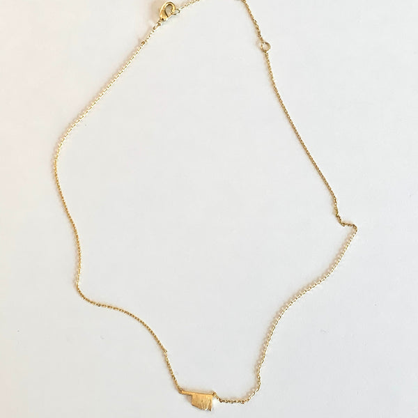 OKLAHOMA Gold Necklace
