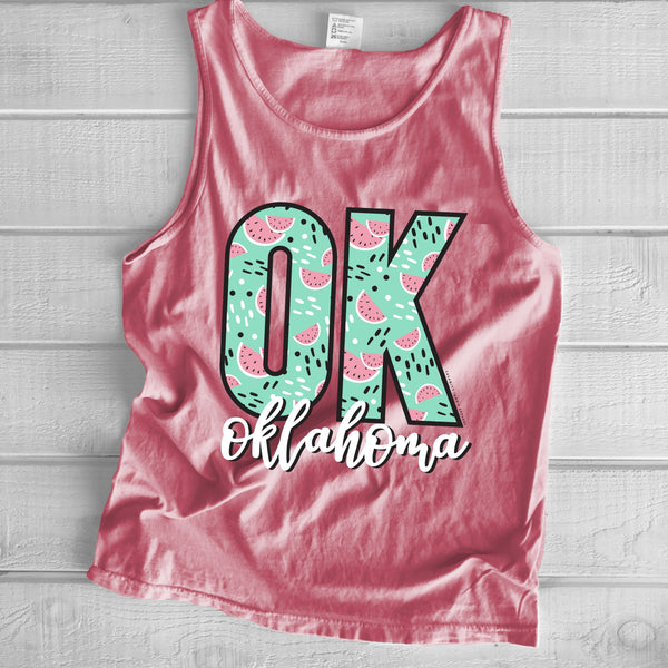 "OKLAHOMA: ""OK"" Watermelon Pattern"