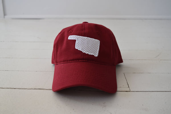 OKLAHOMA: State Polkadot Hat - RED
