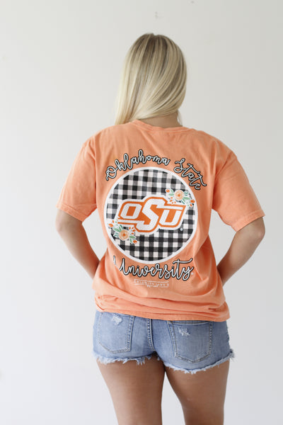 OKLAHOMA STATE UNIVERSITY 2018:  Buffalo Check Circle Back Shortsleeves
