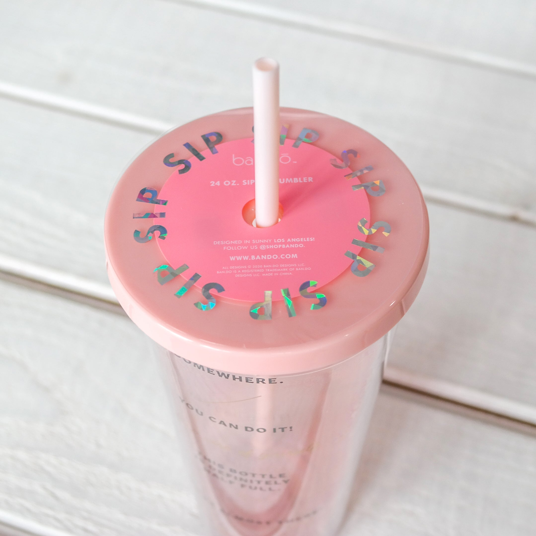 24 Oz. Sip Sip Tumbler with Straw - Drinking Enough Water?