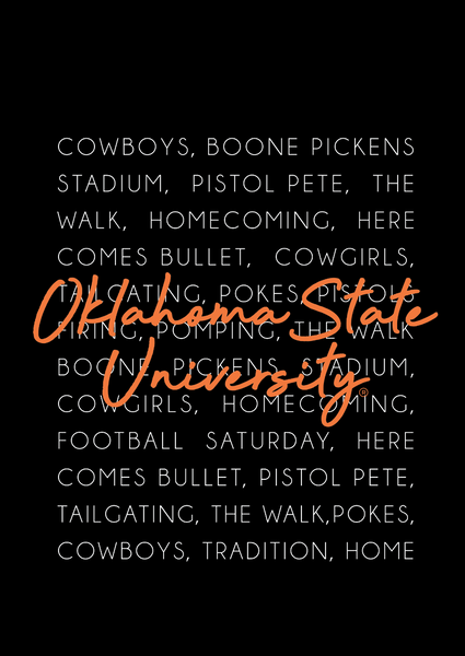 OK STATE 2020: Simple Text - Longsleeve