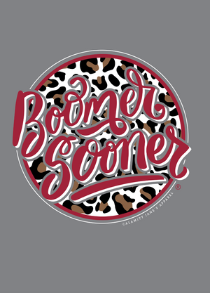 UNIV. OF OK 2020: Boomer Sooner Leopard Circle - Sweatshirt