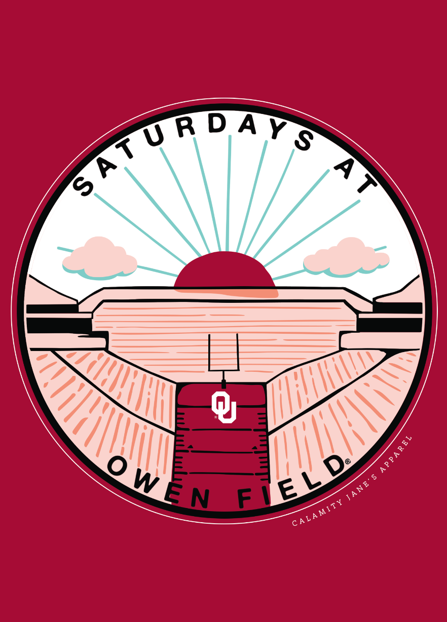 UNIV. OF OK 2020: Saturdays at Owen Field - Longsleeve