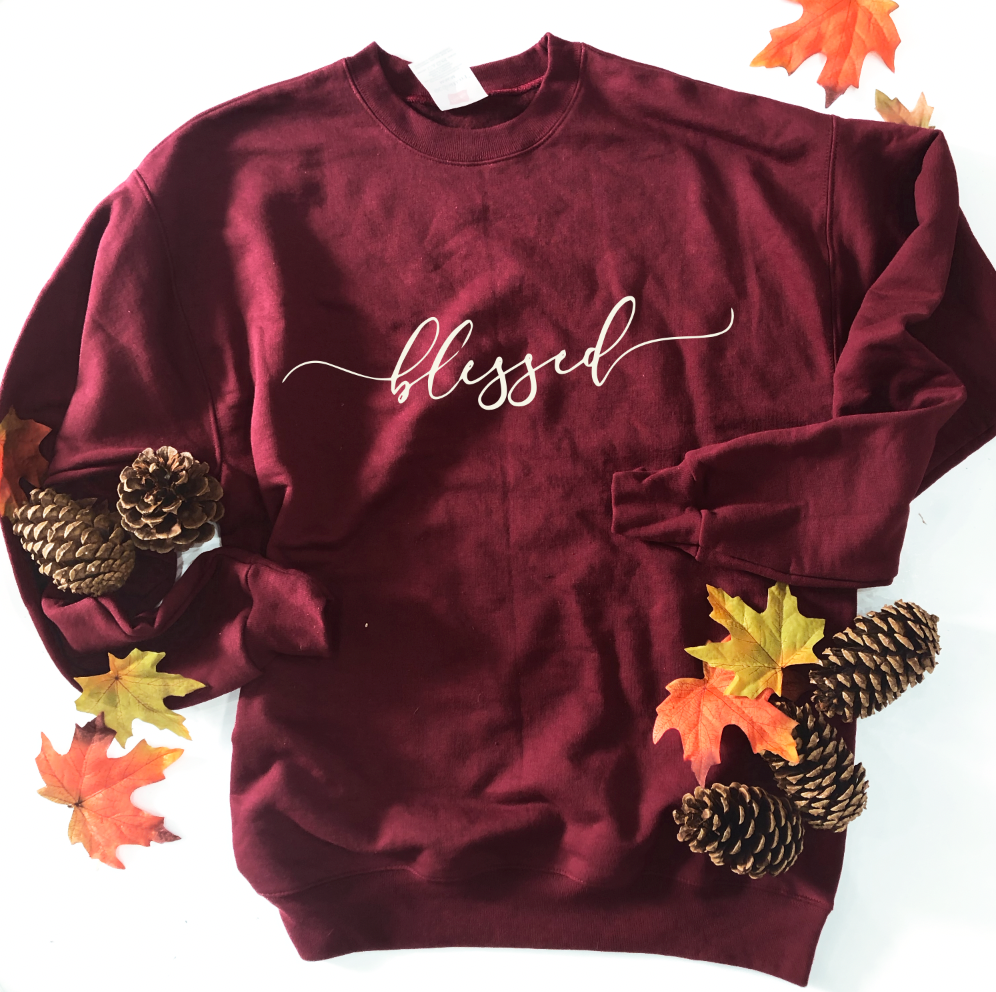 Blessed Simple Script - SWEATSHIRT