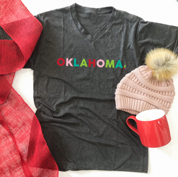 OKLAHOMA: Bright Christmas (BASIC VNECK OR CREW NECK)
