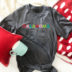 OKLAHOMA: Bright Christmas (BELLA CANVAS VNECK OR CREW NECK)