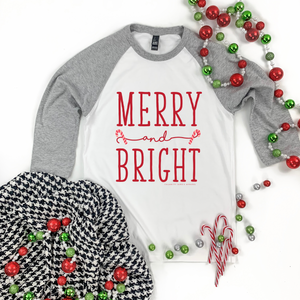 "Christmas 2020: ""Merry & Bright Candy Canes"" - 3/4 SLEEVE"