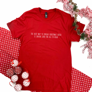"Christmas 2020: ""Christmas Cheer"" - BASIC TEE (Vneck or Crew Neck)"