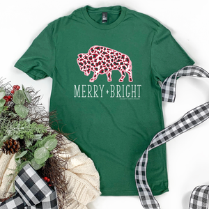 "Christmas 2020: ""Merry & Bright Buffalo"" - BASIC CREW NECK"