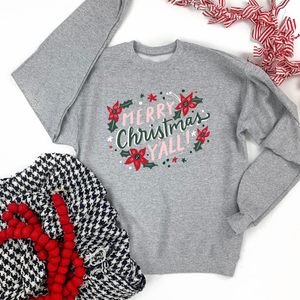 "Christmas 2020: ""Merry Christmas Y'all"" - SWEATSHIRT"