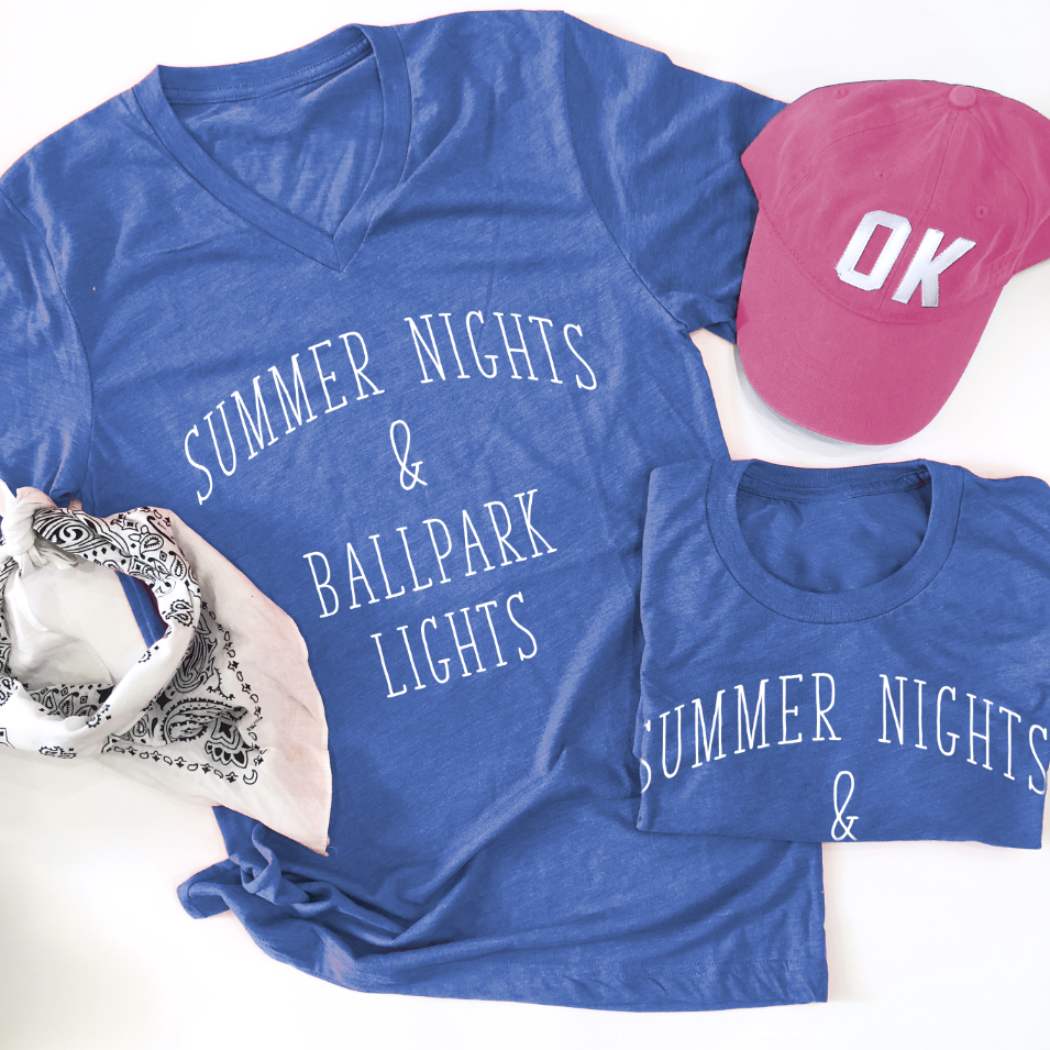 SPORTS LIFE: Ballpark Lights (CREW NECK or VNECK)