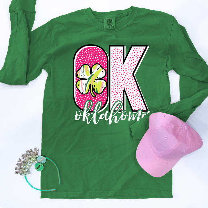 "SWEET TEE TUESDAY: ""OK"" Pattern & Clover - LONGSLEEVE"
