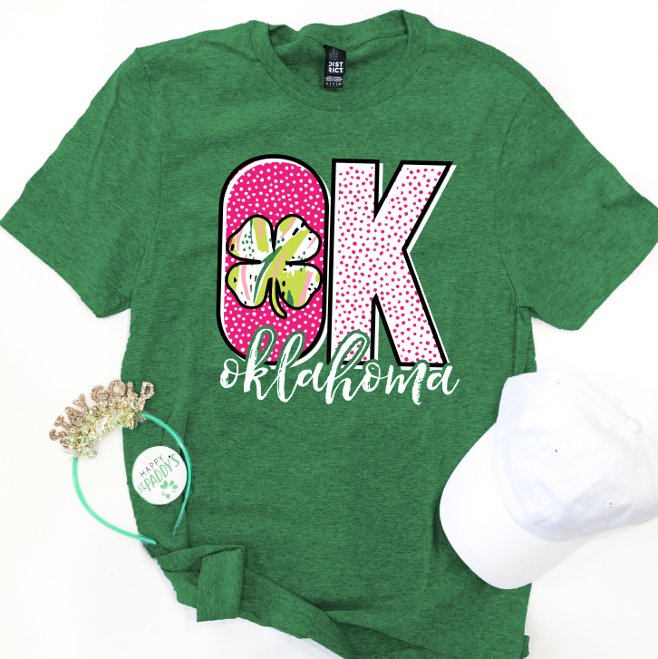 "SWEET TEE TUESDAY: ""OK"" Pattern & Clover - BASIC CREW NECK"