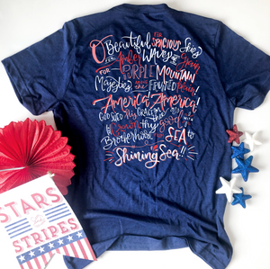 AMERICAN SPIRIT: O Beautiful America (CREW OR VNECK)