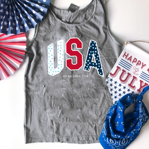 AMERICAN SPIRIT: USA Vincent Patterns (COMFORT COLORS TANK)