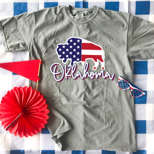 "SWEET TEE TUESDAY: American Buffalo ""Oklahoma"" (COMFORT COLORS SHORTSLEEVE)"