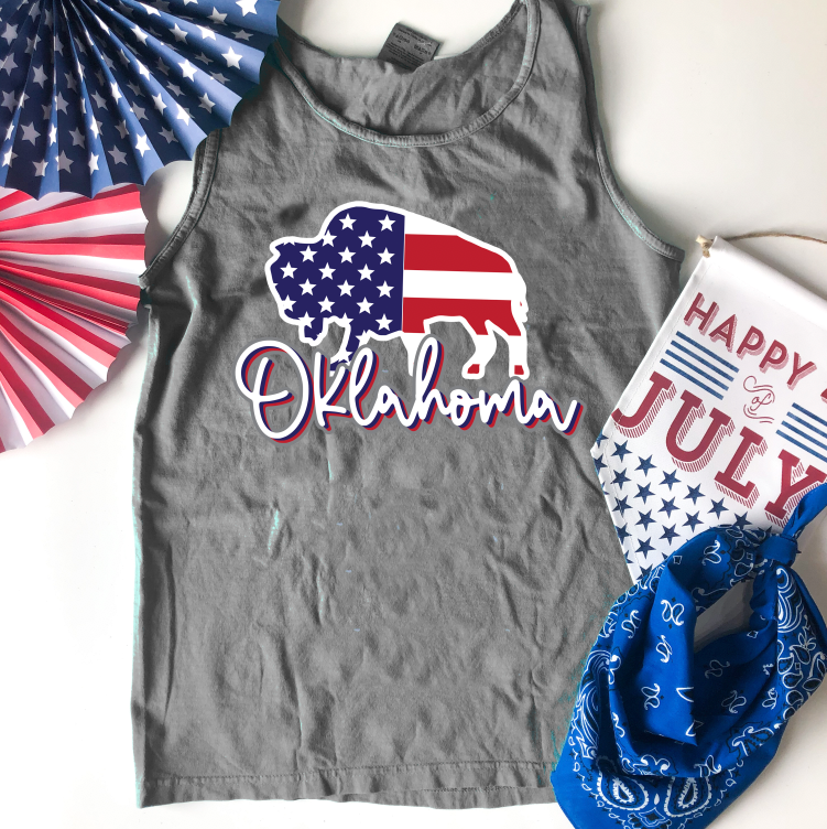 "SWEET TEE TUESDAY: American Buffalo ""Oklahoma"" (COMFORT COLORS TANK TOP)"
