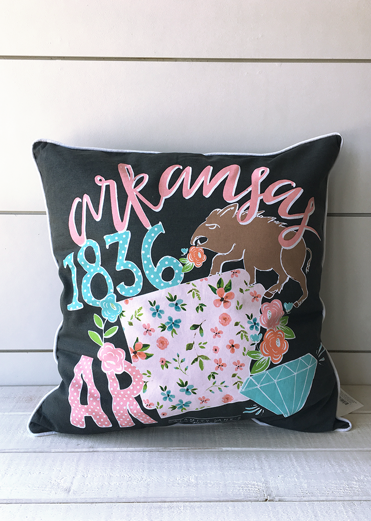 ARKANSAS: 2018 Storyboard Pillow