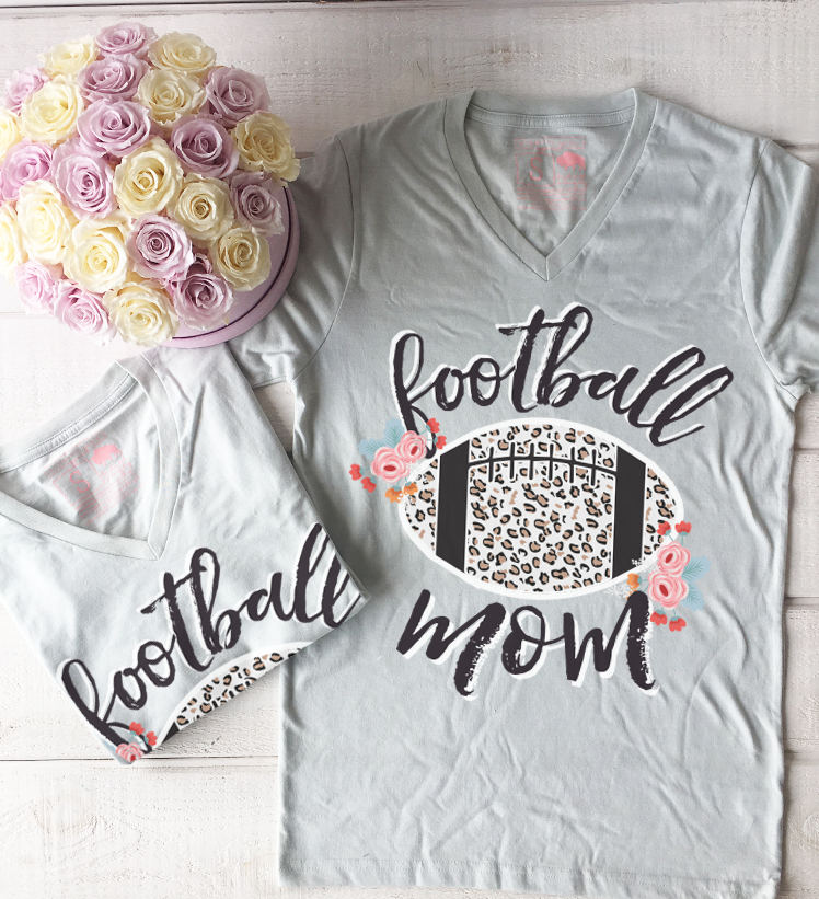 FOOTBALL LIFE 2018: Football Mom Floral & Leopard