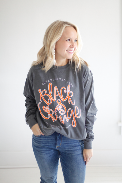 OKLAHOMA STATE UNIVERSITY 2018: Black & Orange Longsleeve