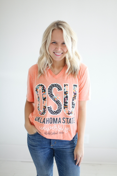 OKLAHOMA STATE UNIVERSITY 2018: Confetti & Floral Shortsleeves