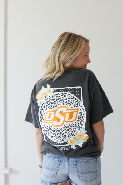 OKLAHOMA STATE UNIVERSITY 2018: Leopard & Floral Shortsleeves