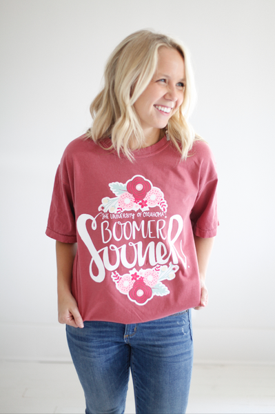 UNIVERSITY OF OKLAHOMA 2018: Boomer Sooner Flower Football Shortsleeve
