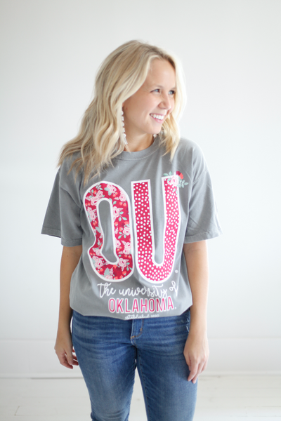 UNIVERSITY OF OKLAHOMA 2018: Confetti & Floral Shortsleeve