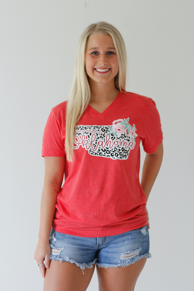 UNIVERSITY OF OKLAHOMA 2018: Leopard & Floral Shortsleeve