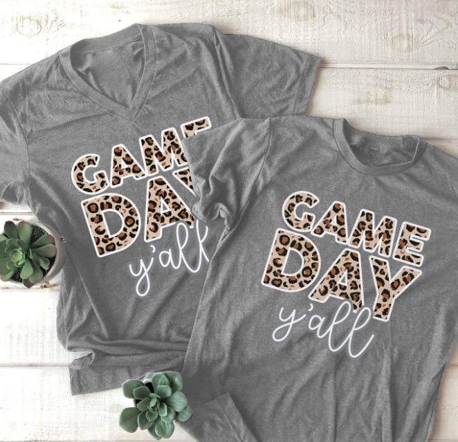 SWEET TEE TUESDAY: Gameday Y'all Leopard