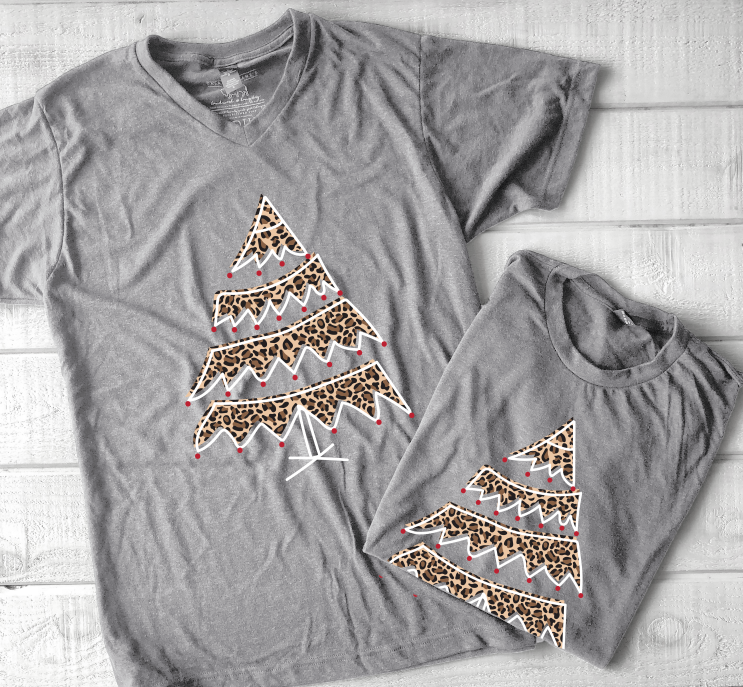 SWEET TEE TUESDAY: Leopard Christmas Tree