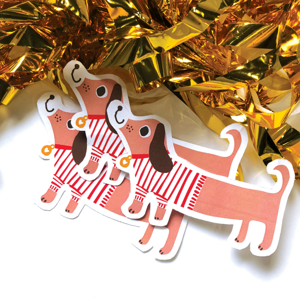 CJ KIDS: Charlee the Dachshund - Diecut Sticker