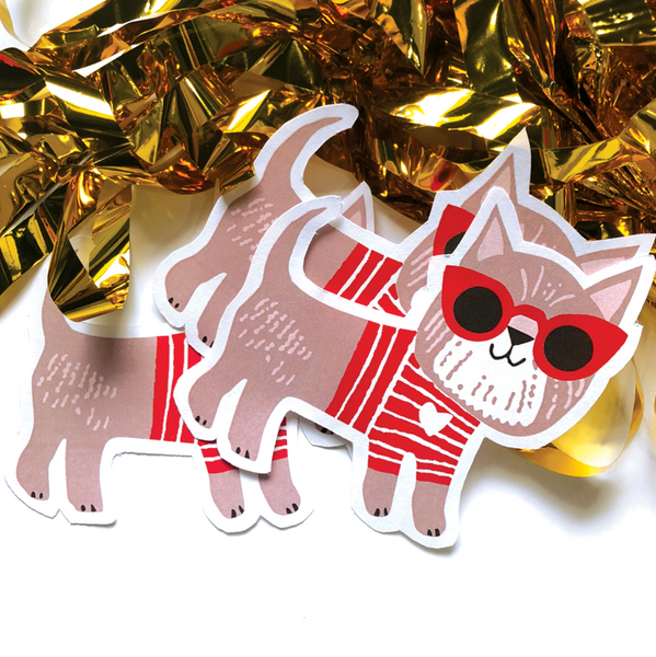 CJ KIDS: Scout the Terrier - Diecut Sticker