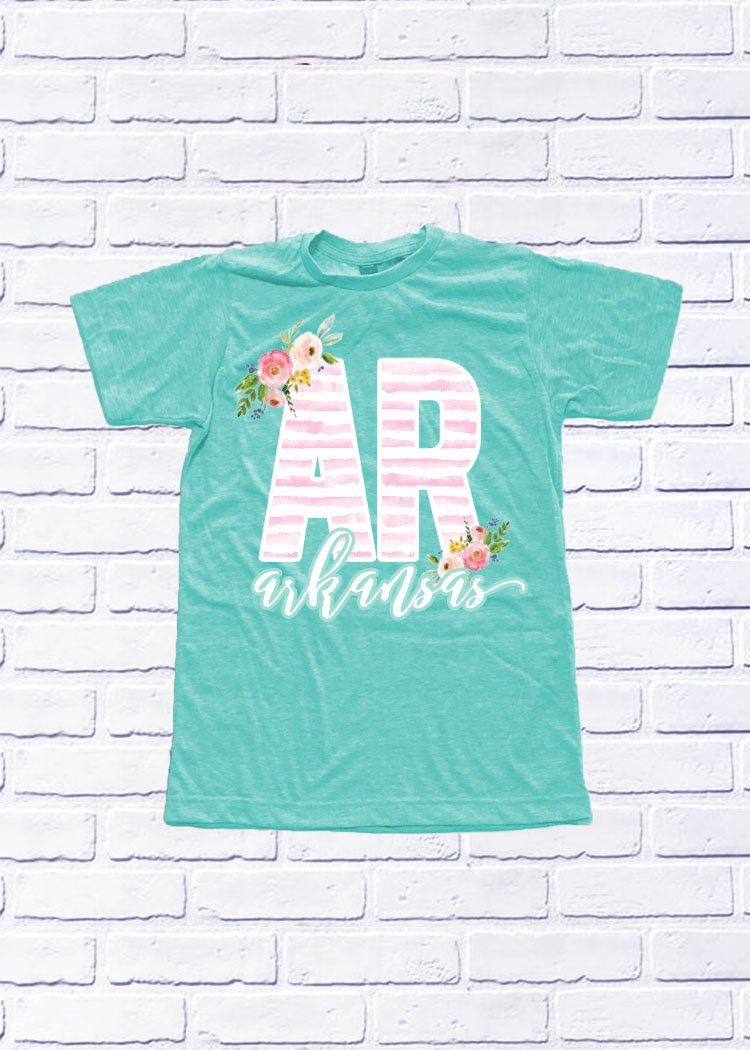 ARKANSAS: Spring Stripes & Floral
