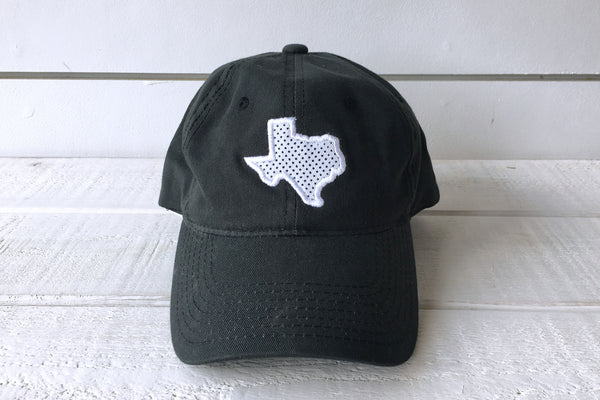 TEXAS: State Polkadot Hat - BLACK