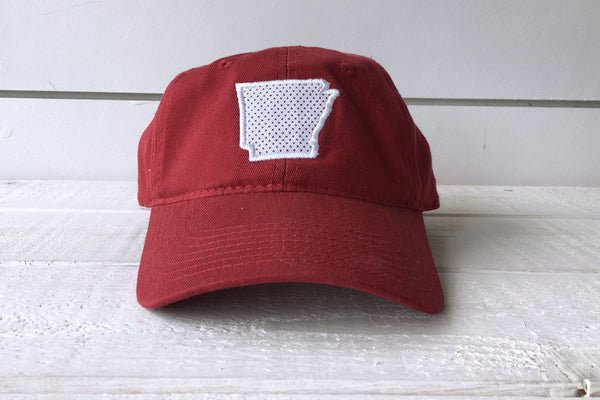 ARKANSAS: State Polkadot Hat - RED