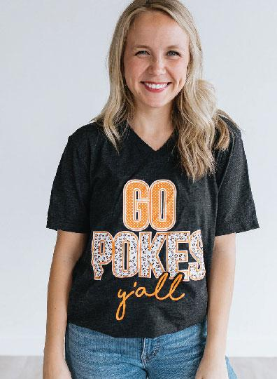 OK STATE 2019: Go Pokes Y'all - Vneck