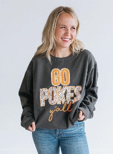OK STATE 2019: Go Pokes Y'all - Sweatshirt