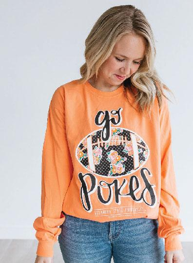 OK STATE 2019: Go Pokes Football - Longsleeve